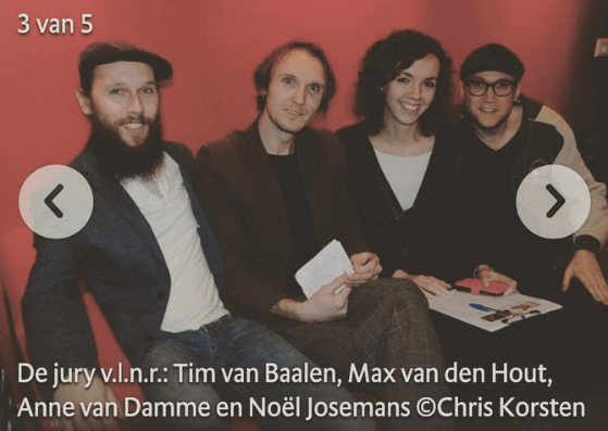 Anne van Damme was drie keer op rij jurylid in de Bossche Band Battle.