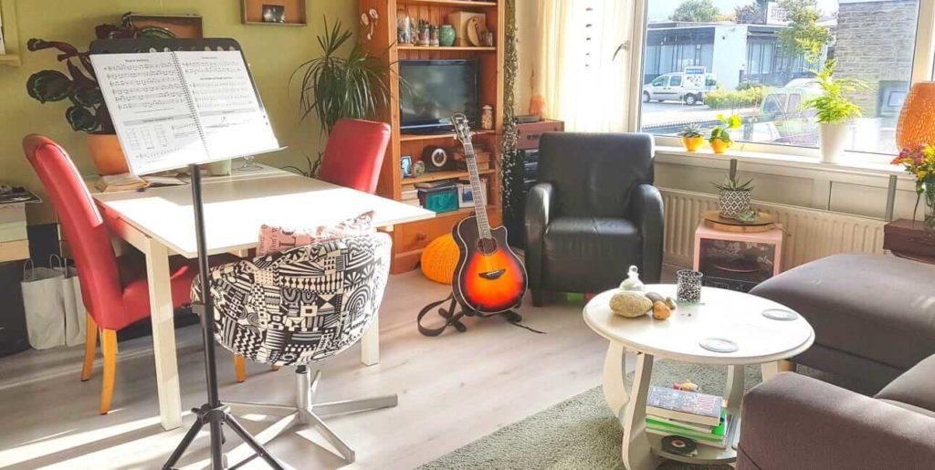 De leslocatie van muziekcoach Anne van Damme in Den Bosch